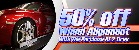 Half Price Wheel Alignment